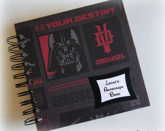 2018 80 pgs Darth Vader Star Wars PERSONALIZED  Disney Autograph Book Scrapbook Use it as a  Vacation Photo Book 1808 boys fave