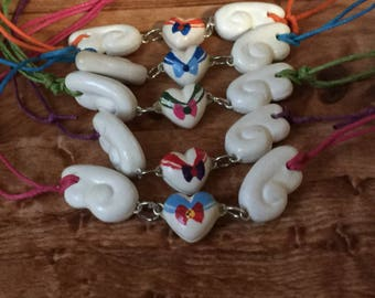 Sailor moon heart wing necklace