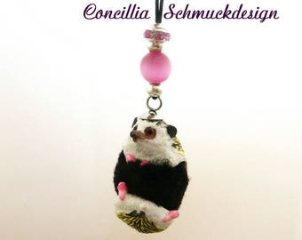 Necklace with Funny Hedgehog