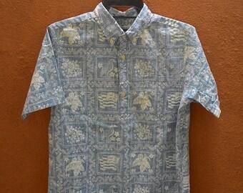 20% OFF Vintage Reyn Spooner Hibiscus Flower Flags Birds Hawaiian Pullover Shirt Size XL..