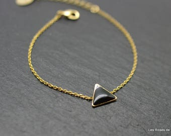 Bracelet graphic triangle gold