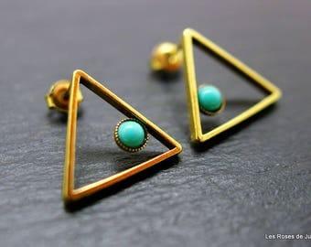 Earrings graphic triangle earrings