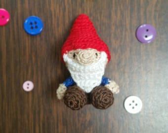 Micro Crochet Gnome