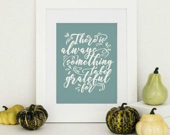 Rustic Thanksgiving Decor, Thanksgiving Decorations, Thanksgiving Print, Grateful Sign, Fall Print, Rustic Fall Decor, Rustic Home Decor