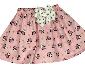 Skirt, Minnie skirt,  Girl Skirt,  Girl birthday skirt ,Minnie Mouse  skirt, baby Skirt , Toddle  skirt, Skirts