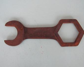 Large Vintage Vlchek Hub Wrench V-Shield Logo Free Shipping