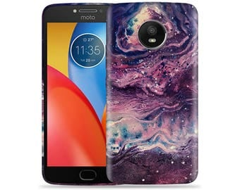 Motorola Moto E4 Case - Motorola E4 Case #Space Hard Phone Cover