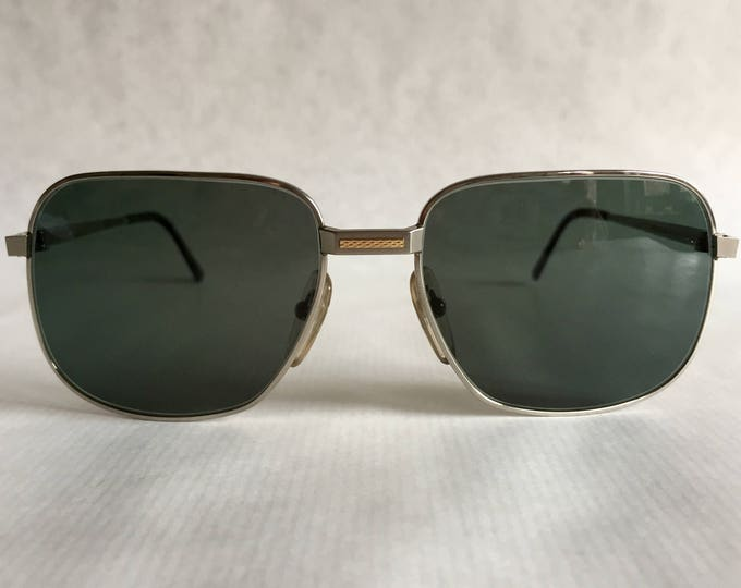 Dunhill 6094 Titanium & 18kt Solid Gold Vintage Sunglasses Made in Japan NOS