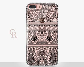 Egyptian iPhone 7 Clear Case - Clear Case - For iPhone 8 - iPhone X - iPhone 7 Plus - iPhone 6 - iPhone 6S - iPhone SE Transparent - Samsung