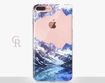 Mountain Clear Phone Case For iPhone 8 iPhone 8 Plus iPhone X Phone 7 Plus iPhone 6 iPhone 6S  iPhone SE Samsung S8 iPhone 5 Transparent