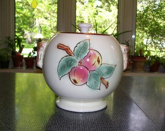 Roseville Cookie Jar  Ceramic Cookie Jar  Roseville, Ohio  1950s Vintage