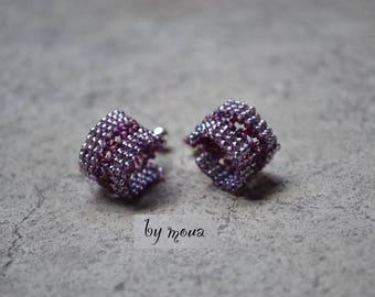 Small earrings woven beads