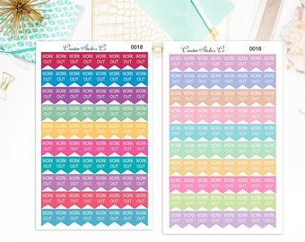 WorkOut Stickers – Work Out Planner Stickers- Will Fit Any Planner - 0018