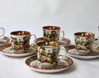 6 cups coffee Digoin & Sarreguemines (France)