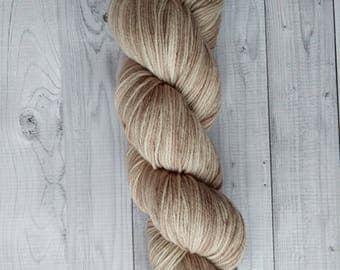 Gemstones MCN, Cafe au Lait, hand dyed yarn