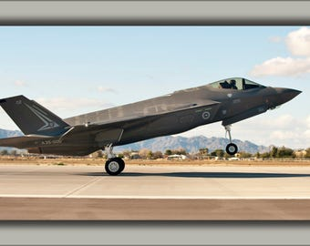 Poster, Many Sizes Available; First Royal Australian Air Force F-35A Lightning Ii Jet