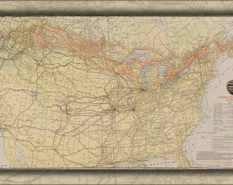Poster, Many Sizes Available; Map Of Canadian Pacific Railway Railroad 1912