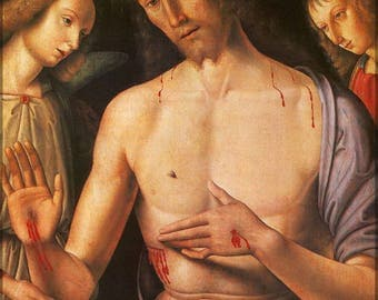 Poster, Many Sizes Available; Christ Supported By Two Angels, C.1490 By Raphael