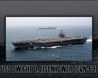 Poster, Many Sizes Available; Uss Dwight D. Eisenhower (Cvn 69) P2 !!!!Check Other Folder!!!!!