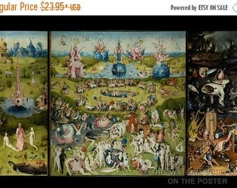 40% OFF SALE Poster, Many Sizes Available; Garden Of Earthly Delights Triptych By Hieronymus Bosch (C. 1503) Paradise And Hell