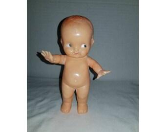 VINTAGE Irwin Kewpie Doll,Irwin Doll,Talcum Shaker,Naked Kewpie,Carnival Prize,Irwin Doll,Hard Plastic Kewpie,Jointed Arms,Carnival ,1920s