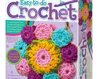 4M Easy-To-Do Crochet Kit Toys Craft Kits perfect for beginners..  Crafting Supplies 8 years of age and older