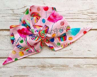 CANDY LOVE Gorgeous Wrap- headwrap; fabric head wrap; candy head wrap; boho; newborn headband; baby headband; toddler headband