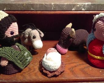Nativity crochet amigurumis 5 pieces
