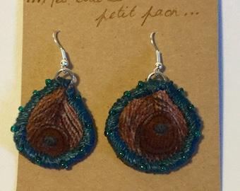 Banker BO5.14 Peacock feather earrings