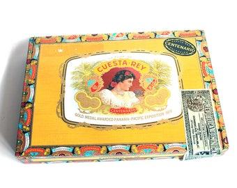 Wooden Cigar Box - Empty - For Crafting - Cuesta Rey Belicoso No. 60