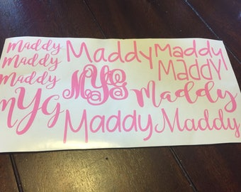 Back to School Decals, School Supply Personalized, Name Decals, Back to School