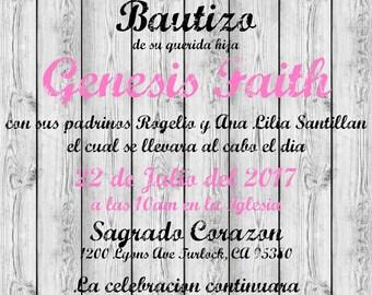Invitacion Rustica/Rustic Invitation