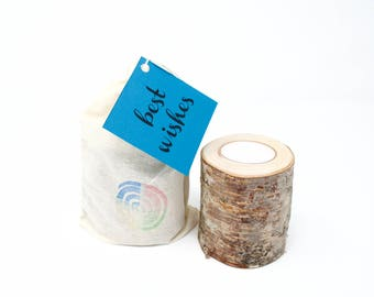 Birch Candleholder/Single or Set of 3 Candles/Alaskan Birch Candleholder/Gifts