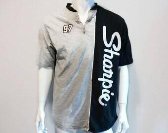 Vintage Nascar Shirt SHARPIE Racing shirt 90s Size Large