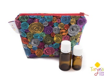 Small Essential Oil Carry Case Swirls, Purse Saver, Young Living Oil Case, doTerra Storage Bag, Essential Oils Storage, Oils Travel Case