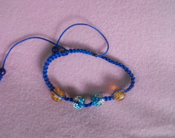 Dark amber and Blue/Blue Shamballa