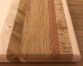 Unique mixed hardwood coasters