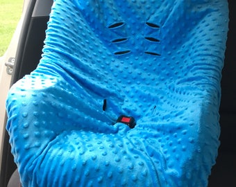 Car seat cover, Minky Car Seat fitted cover, Fitted Car Seat cover