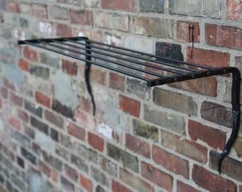 Hand forged wall shelf