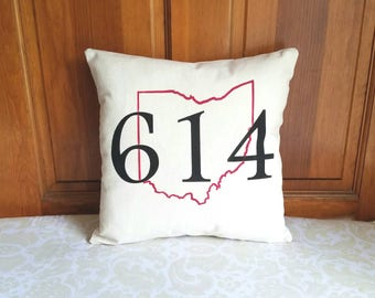 Area Code Pillow | New Home Housewarming Gift | Telephone Gift | New Home Gift | Retirement Gift | Moving Away Gift | Living Room Decor