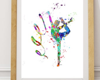 Gymnastics Gift, Gymnastic Picture-Art Poster, INSTANT DOWNLOAD, Gymnastic Poster, Gymnastic Art, Gymnastic Sport Print,Gymnastic Girl sport