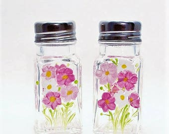 hand painted salt and pepper shakers Cosmos
