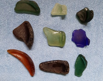Bottle bottom partials in assorted colours ,sea glass