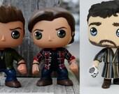Custom Funko Pop Sam, Dean, and Chuck