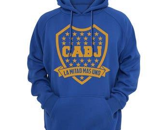 Boca Jrs Hooded Sweatshirt Hoodie Xeneixe Sudadera Argentina Maradona, Tevez, Riquelme