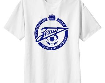 FC Zenit Saint Petersburg Russia T Shirt Football Soccer Zenitchiki