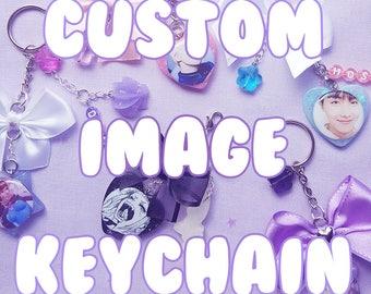 Custom Image Keychain or Phone Charm