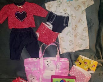 Doll diaper with accessories