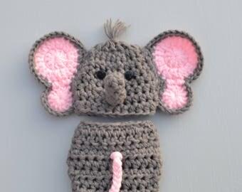Elephant Baby Outfit, Baby Elephant Outfit, Baby Elephant Costume, Elephant Outfit For Baby, Gray Elephant Outfit, Crochet Elephant Outfit