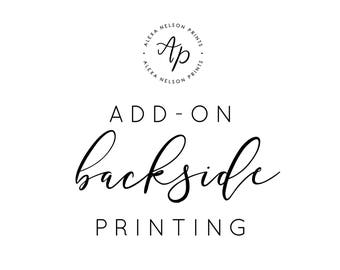 ADD-ON: Backside Printing to Any Card